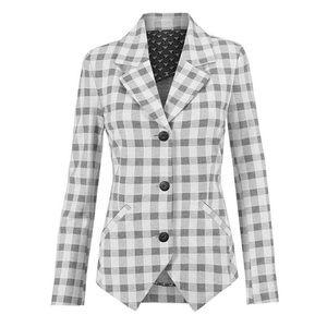 cabi Valentina Blazer #5292 Black and White Knit